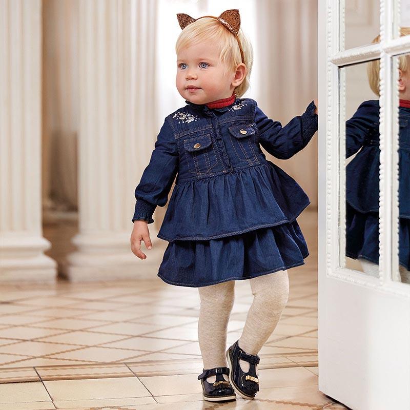 Красива бебешка рокля от деним Mayoral 2962