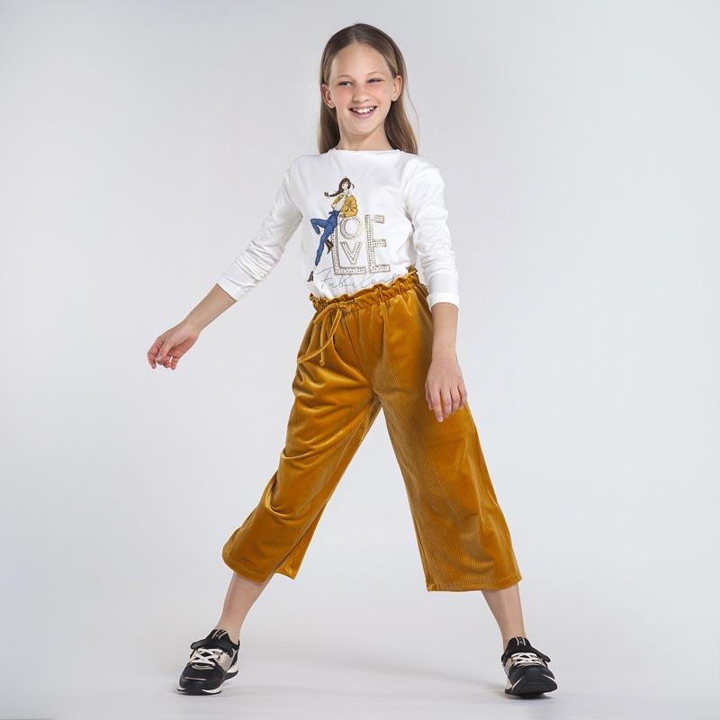Елегантен панталон от кадифе за момиче Mayoral 7952