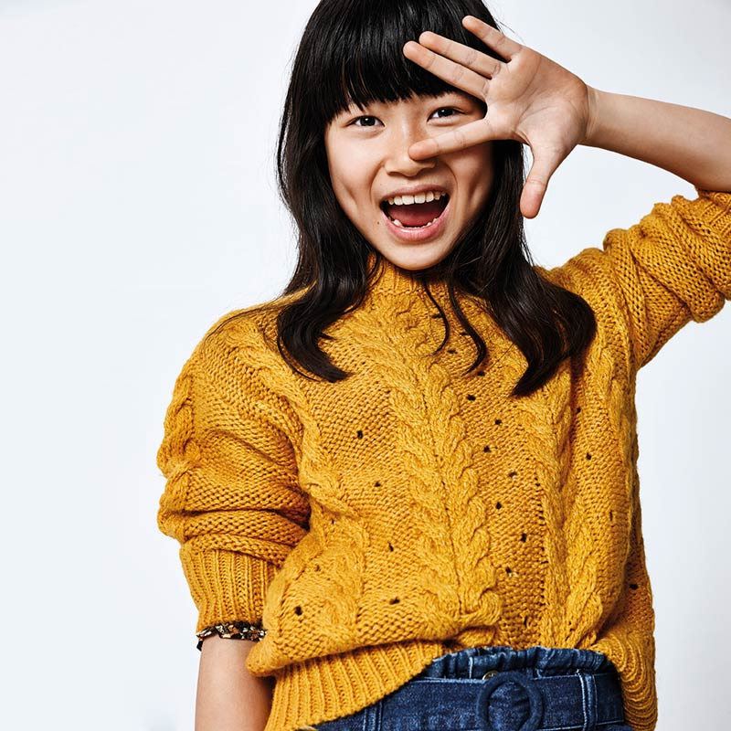 Красив плетен пуловер за момиче Mayoral 7325