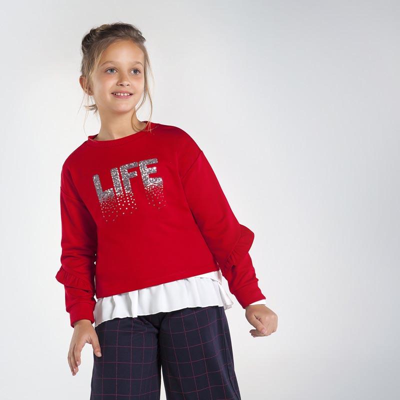 Елегантна блуза с пайети за момиче Mayoral 7402