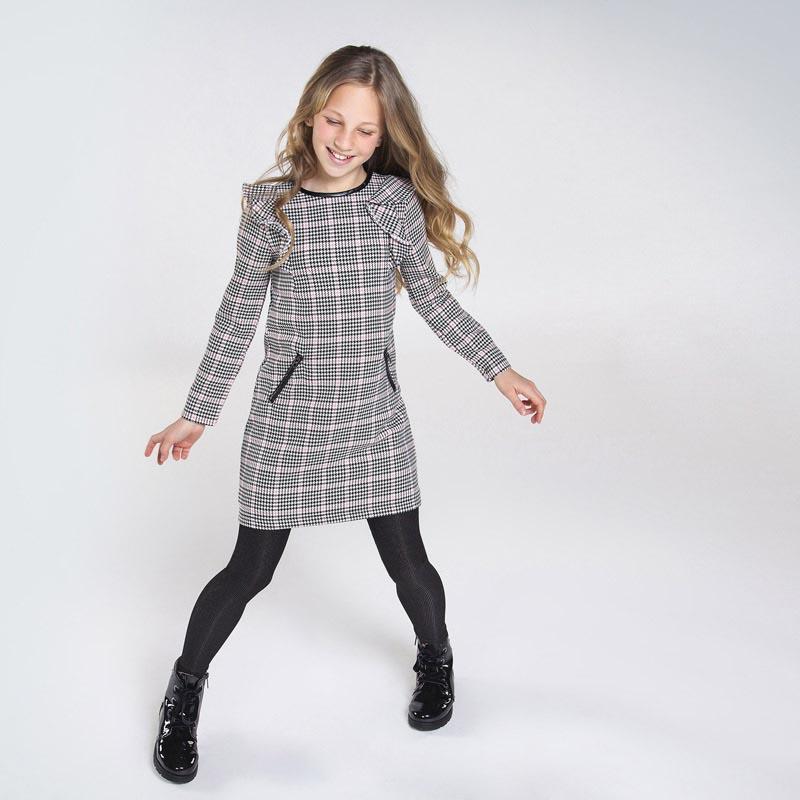 Сладка карирана рокля за момиче Mayoral 7967