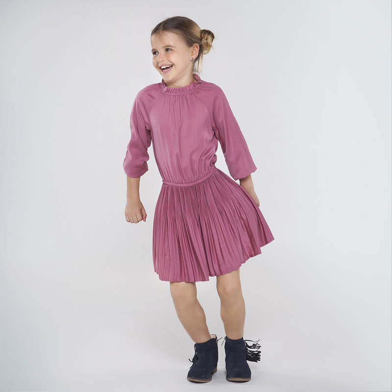 Стилна сатенена рокля за момиче Mayoral 7968
