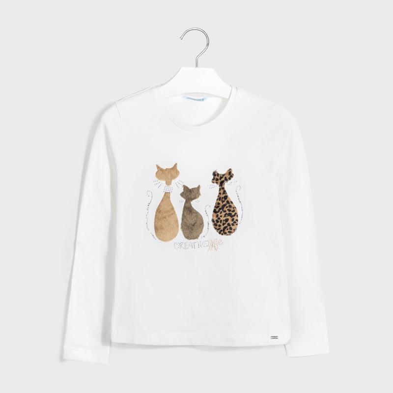 Детска красива блуза с котки Mayoral 7071