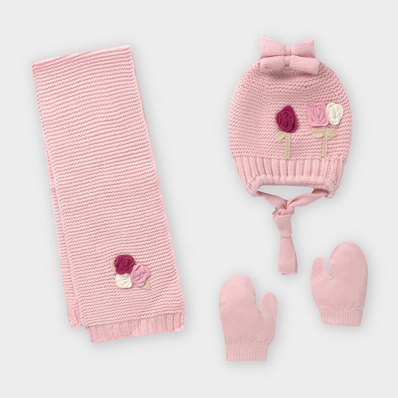 Бебешки зимен комплект от 3 части за момиче Mayoral 10842