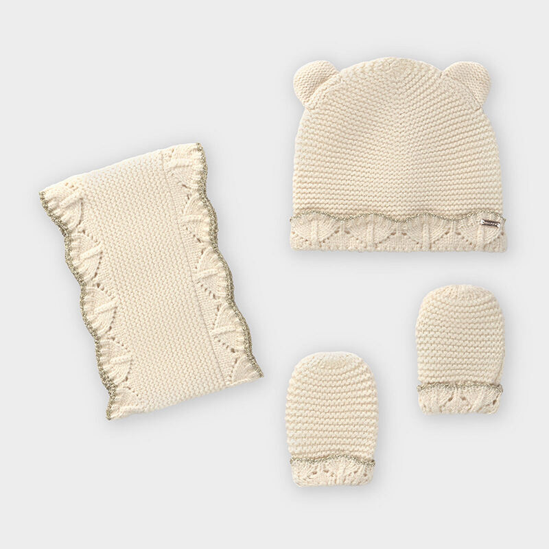 Бебешки зимен комплект от 3 части за момиче Mayoral 10843