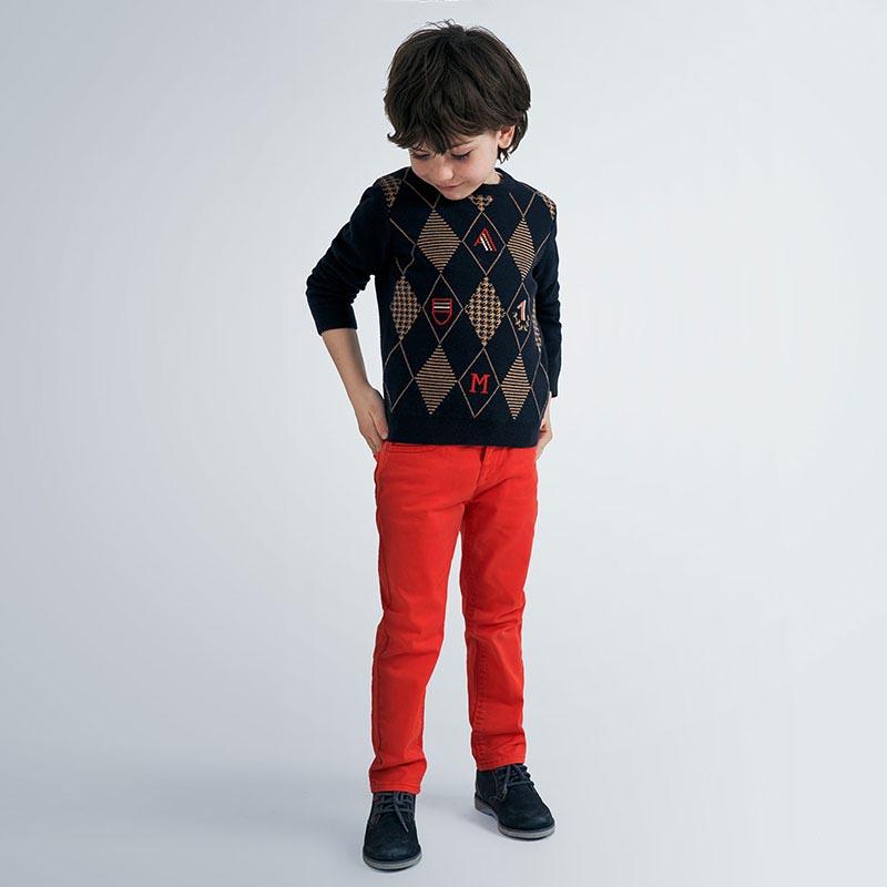 Сладък пуловер с ромбчета за момче Mayoral 4325