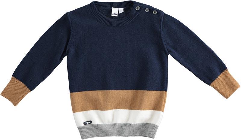 Страхотен пуловер от фино плетиво в няколко цвята IDO 41474