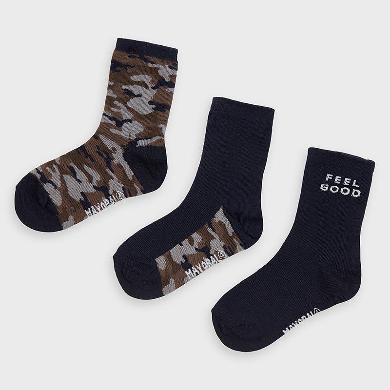 Комплект от 3 чифта камуфлажни чорапки за момче Mayoral 10872