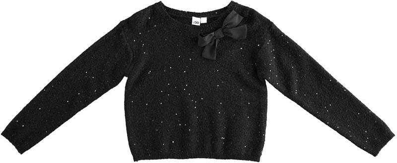 Детски плетен пуловер с пайети iDO 41901
