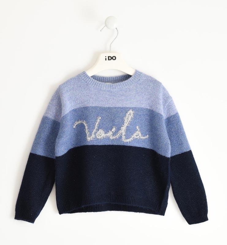Детски плетен пуловер в три цвята iDO 41903