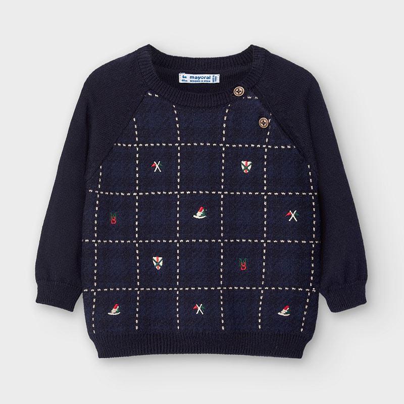 Бебешки фино плетен пуловер с фигури Mayoral 2347
