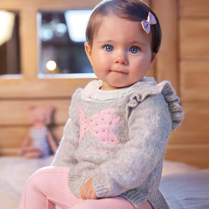 Бебешки плетен пуловер с картинка Mayoral 2357