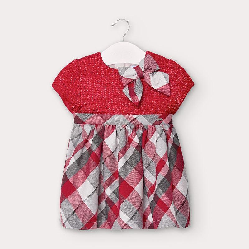 Бебешка карирана рокля Mayoral 2952