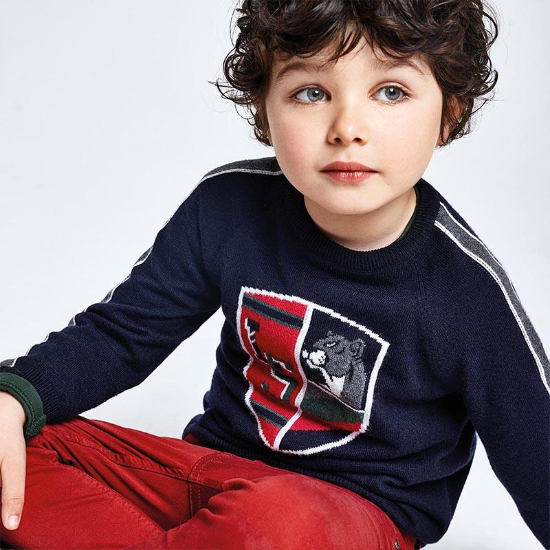 Пуловер от фино плетиво с емблема Mayoral 4330