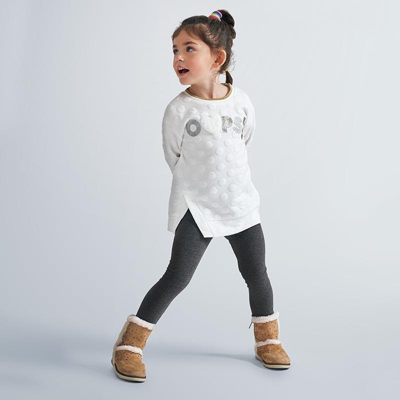 Страхотен детски комплект с блуза на точки и апликации Mayoral 4730
