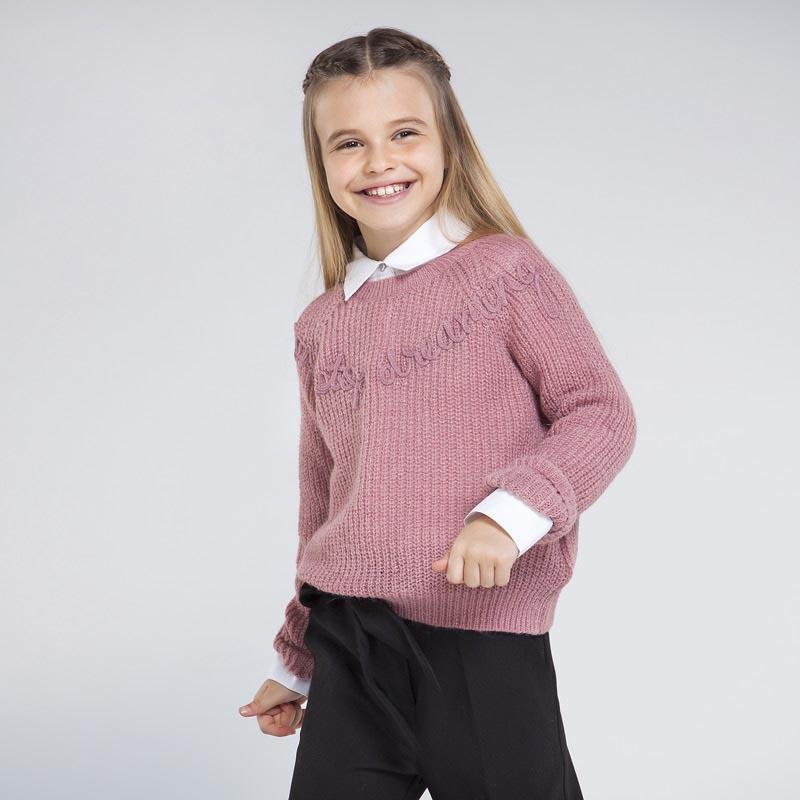 Детски красив плетен пуловер Mayoral 7326