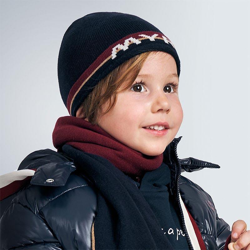 Детска фино плетена зимна шапка Mayoral 10902