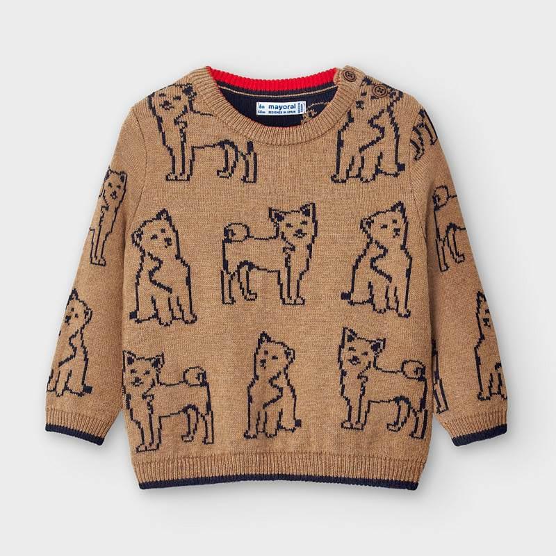 Плетен бебешки пуловер Mayoral 2350