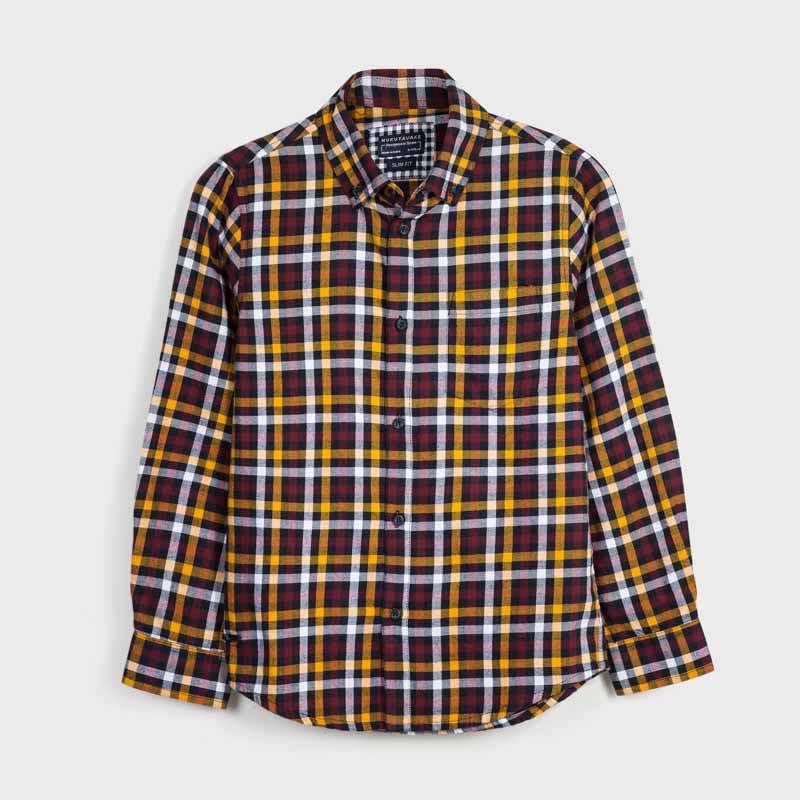 Карирана трицветна риза момче Mayoral 7131