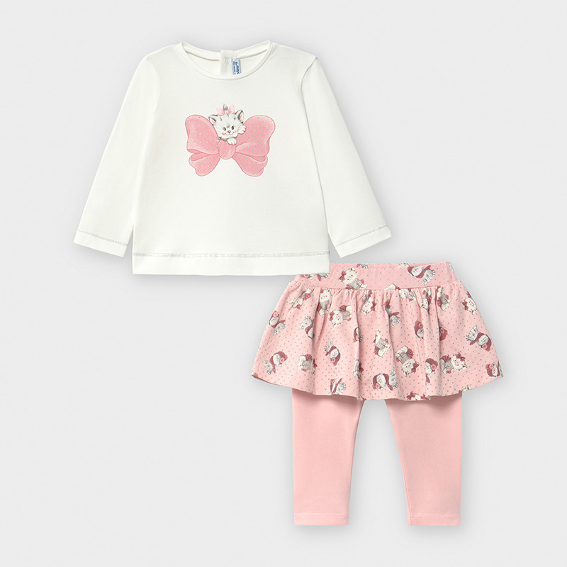 Бебешки комплект с блузка и интересна клин-пола Mayoral 2793