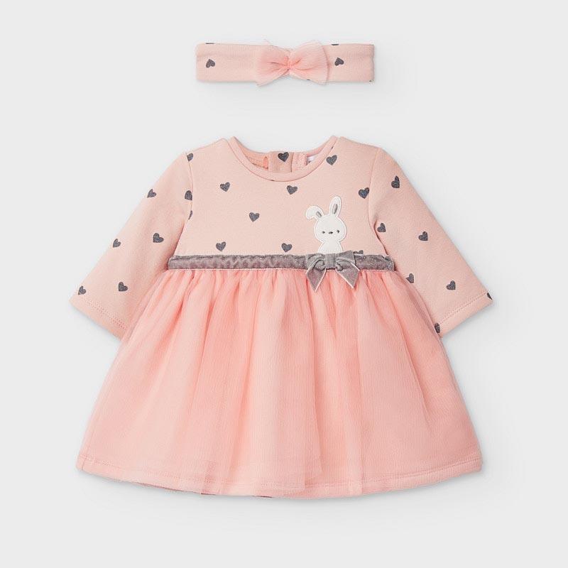 Бебешка рокля с красив тюл и диадема Mayoral 2874