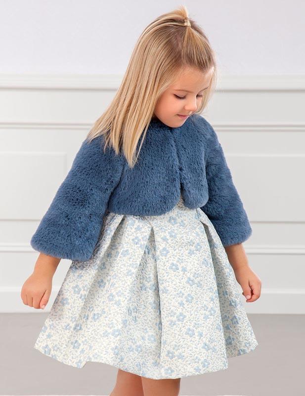 Детско късо пухкаво палто Abel & Lula 5821