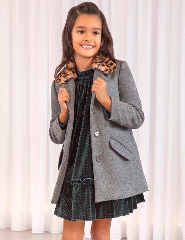 Детско елегантно дълго палто Abel & Lula 5823
