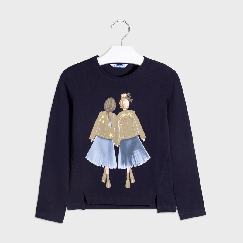 Детска красива блуза с щампа Mayoral 7065