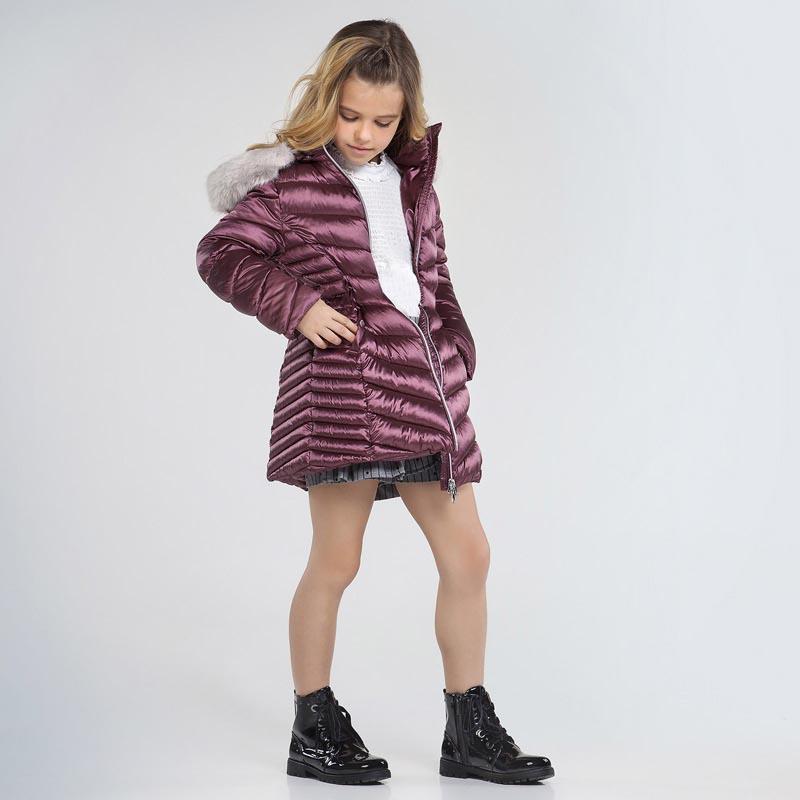 Детско красиво дълго зимно яке Mayoral 7415