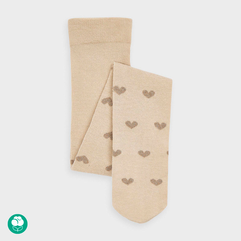 Детски чорапогащник със сърца от плътна материя Mayoral 10868