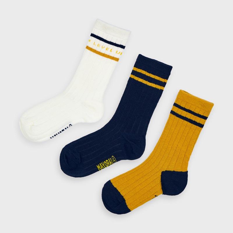 Комплект от 3 чифта дълги чорапи Mayoral 10875