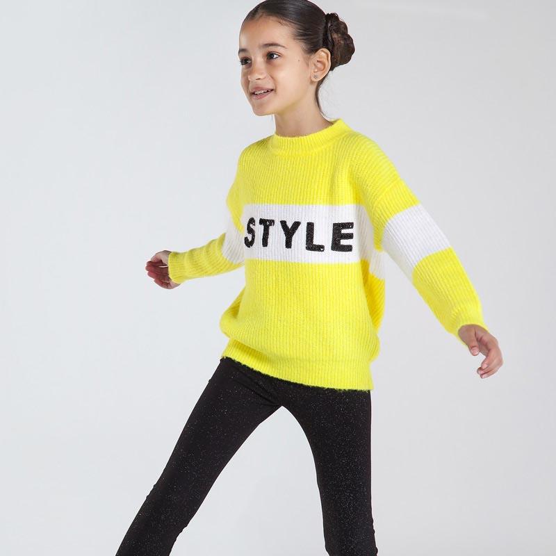 Детски плетен пуловер с надпис Mayoral 7331