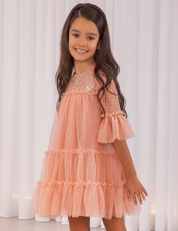 Детска красива рокля Abel & Lula 5563