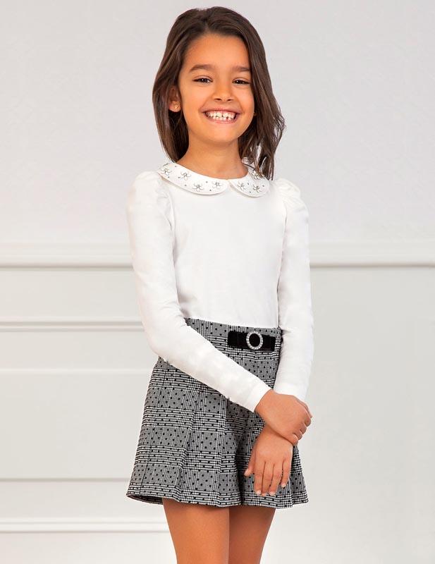 Детска стилна блуза с яка Abel & Lula 5605
