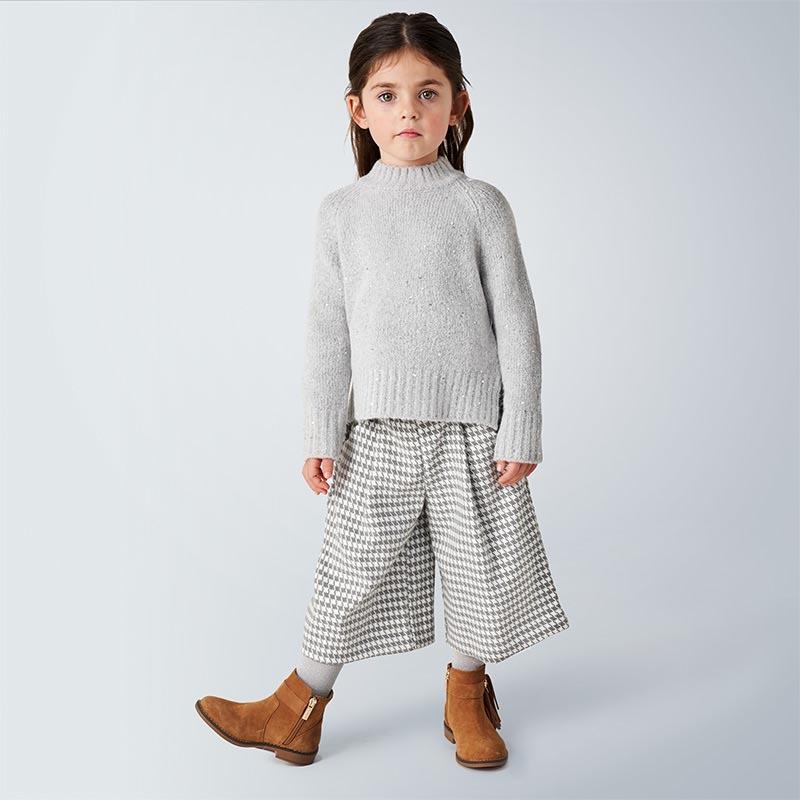 Детски панталон в небрежен стил с мотиви на каре Mayoral 4545