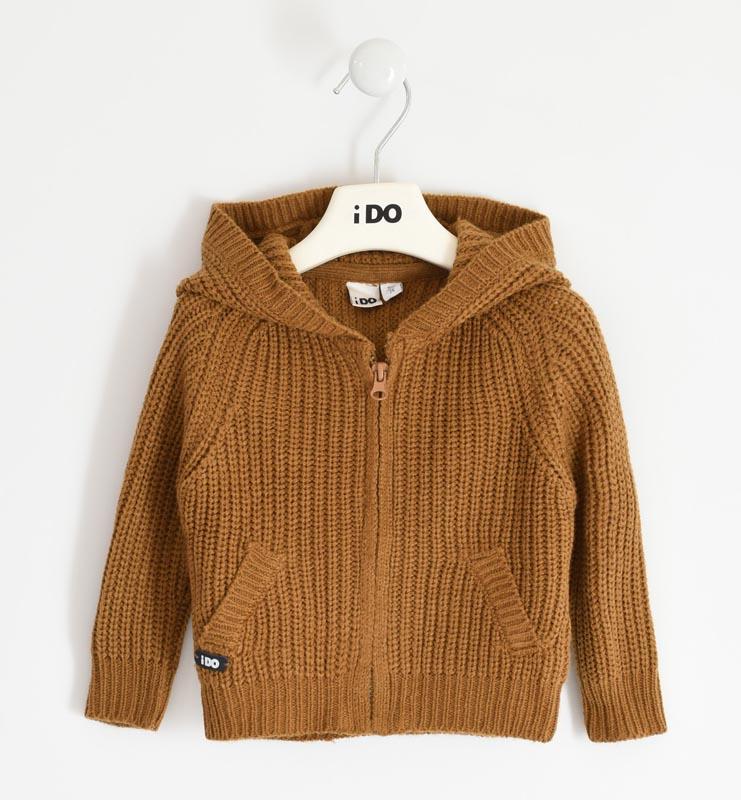 Детска плетена жилетка с качулка iDO 41475