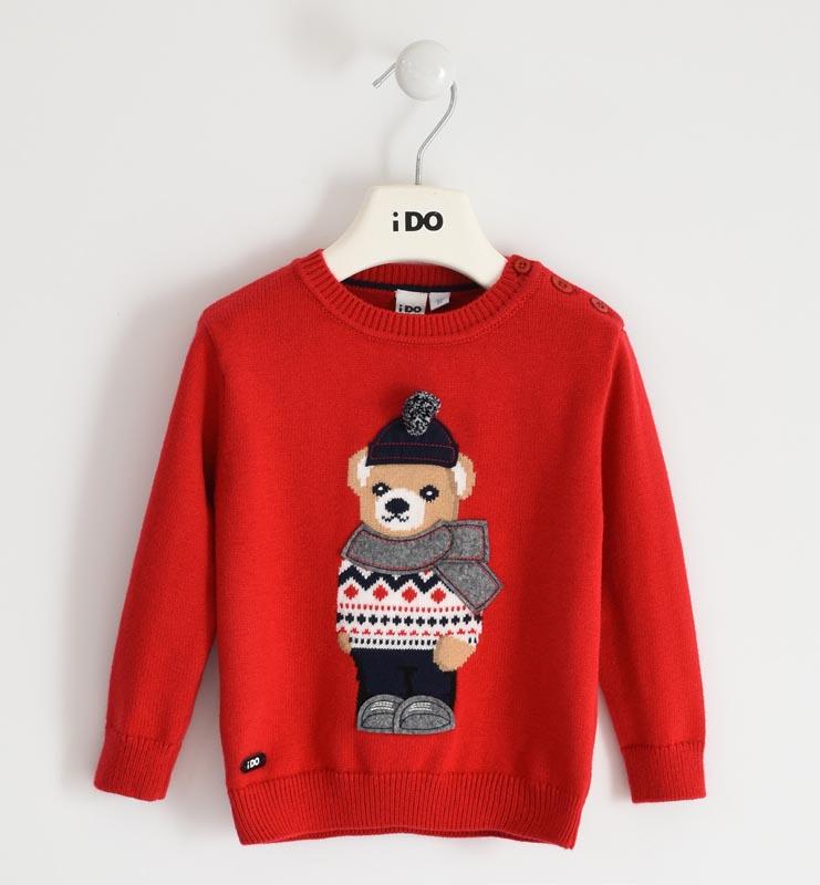 Детски плетен пуловер iDO 41480