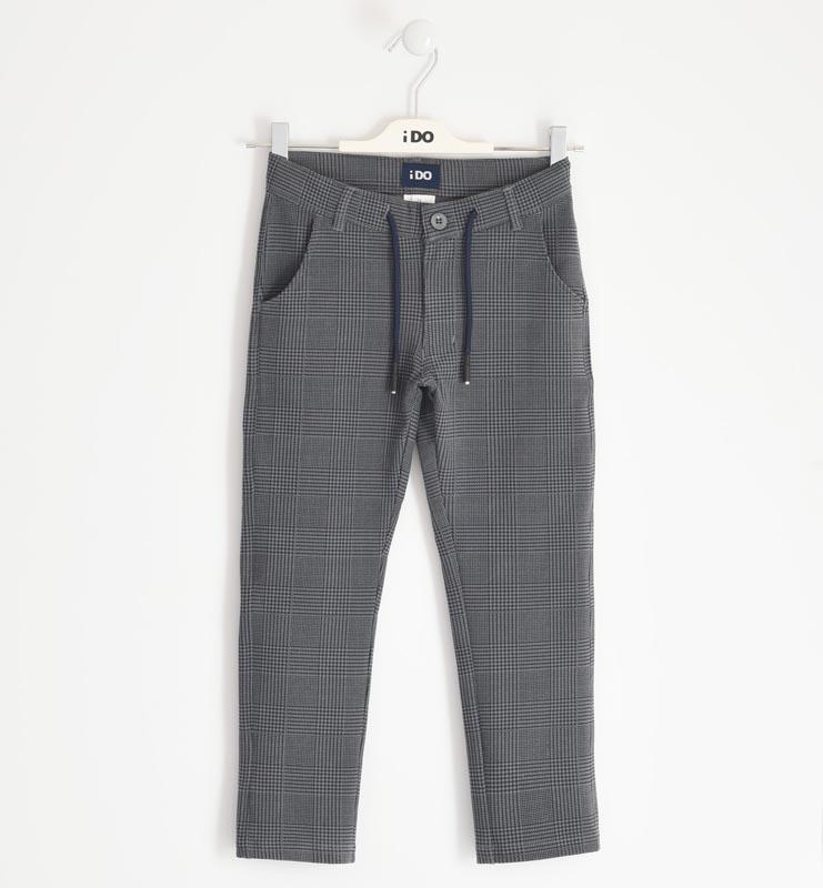 Детски стилен панталон каре iDO 41757