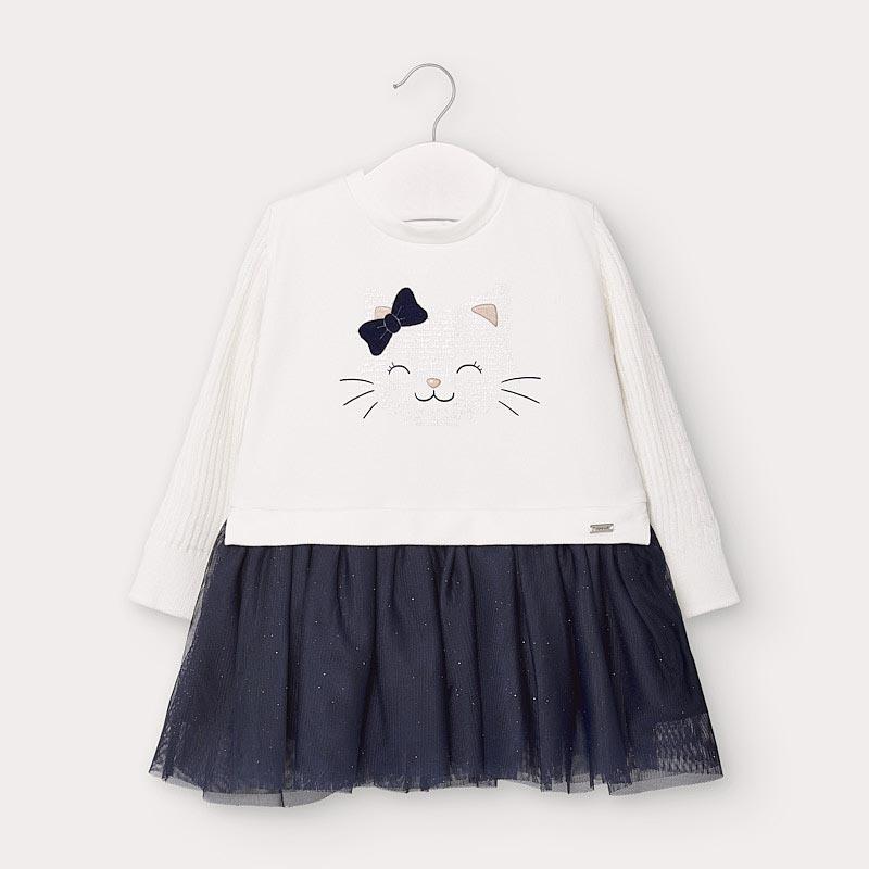 Бебешка рокля от тюл с нежна щампа Mayoral 2970