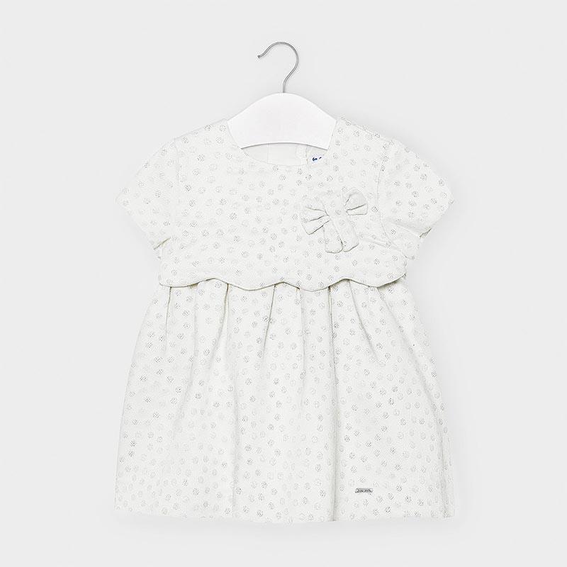 Официална бебешка рокля на точки Mayoral 2945