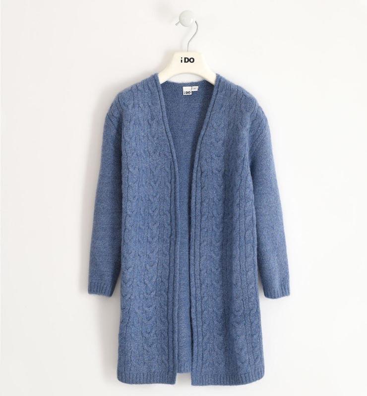 Дълга детска плетена жилетка Ido 41904