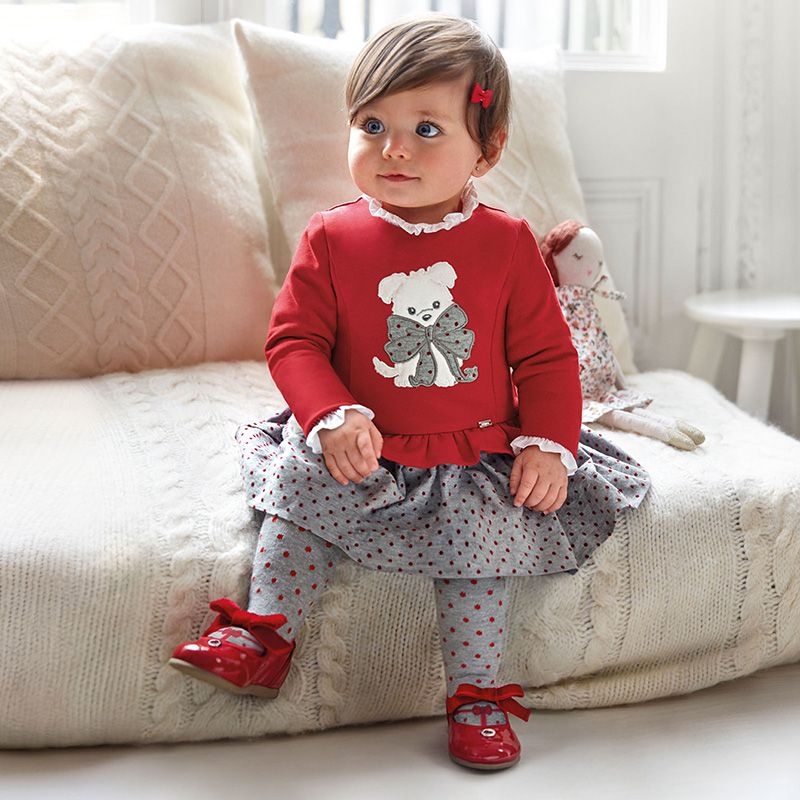 Бебешка трикотажна рокля Mayoral 2955