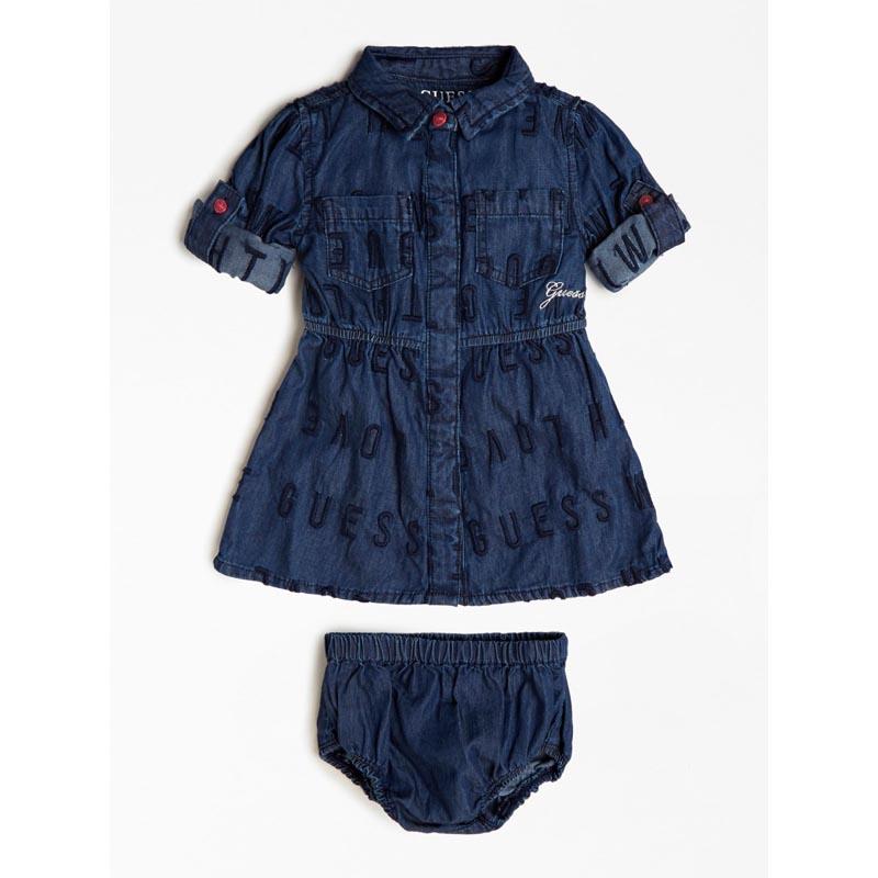 Бебешка дънкова рокля с бродерии Guess A0BK14D3QB0
