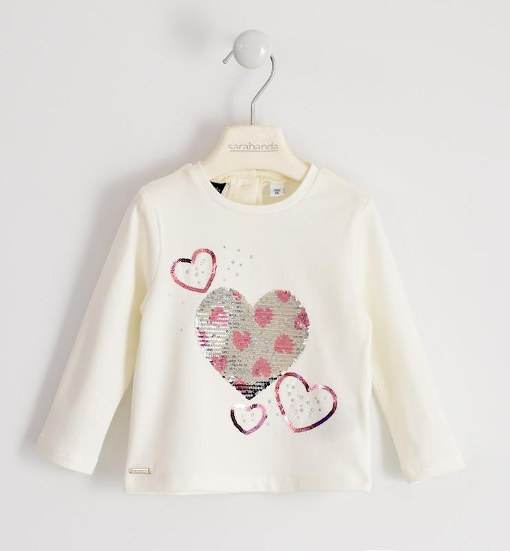 Блуза с обръщащи пайети за момиче Sarabanda 01204