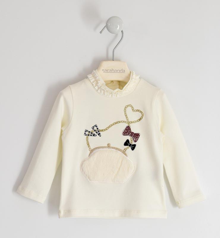 Нежна блуза с декорация от фин косъм Sarabanda 01210