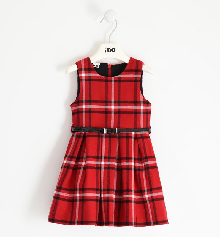 Елегантна рокля в класически червен цвят IDO 41642