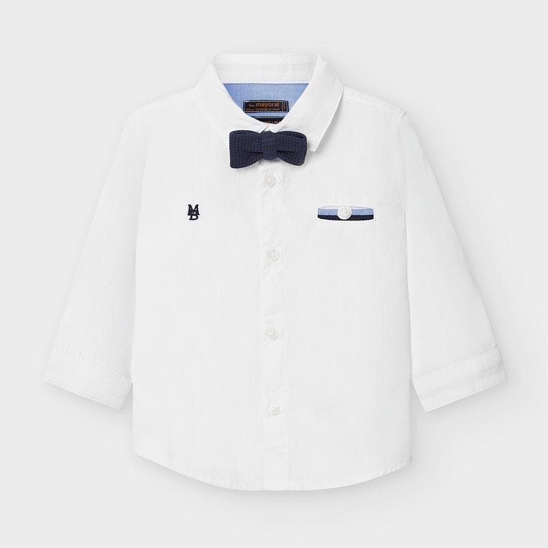Бебешка риза с папионка Mayoral 2129
