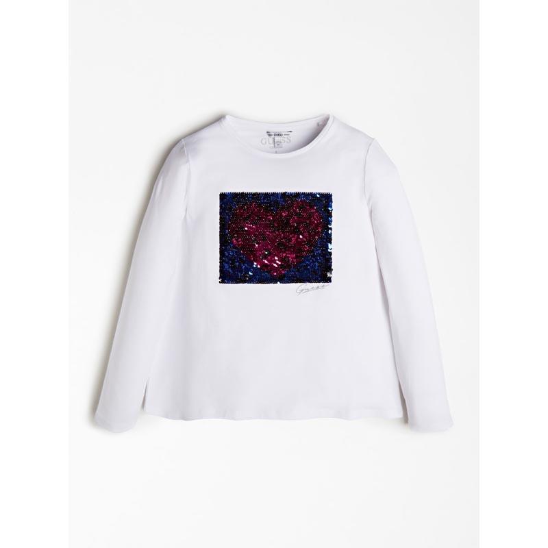 Детска блуза с пайети Guess J0BI07J1300