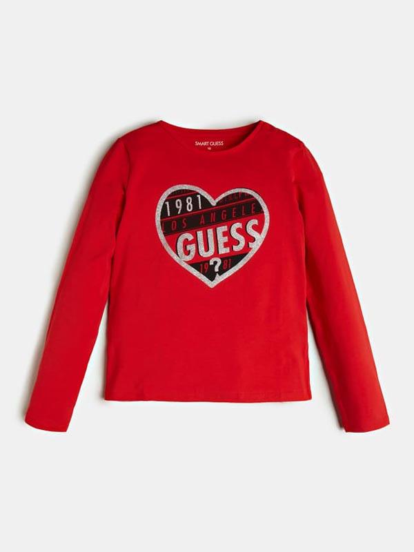 Детска блуза с щампа Guess K0BI18J1311