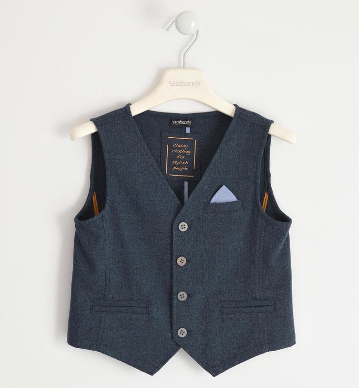 Детски елегантен елек с кърпичка Sarabanda 01350